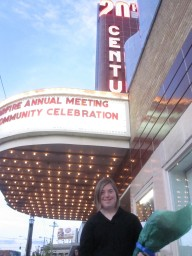Kathleen at the Annual Meeting