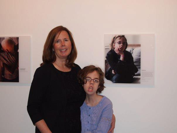 Kathleen Cail, pictured with daughter, Grace at Positive Exposure
