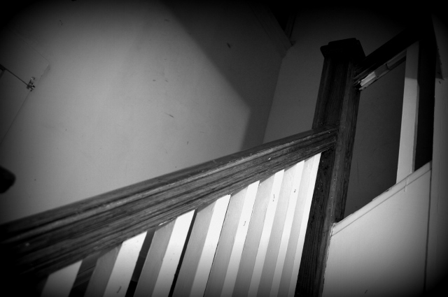 banister going upstairs