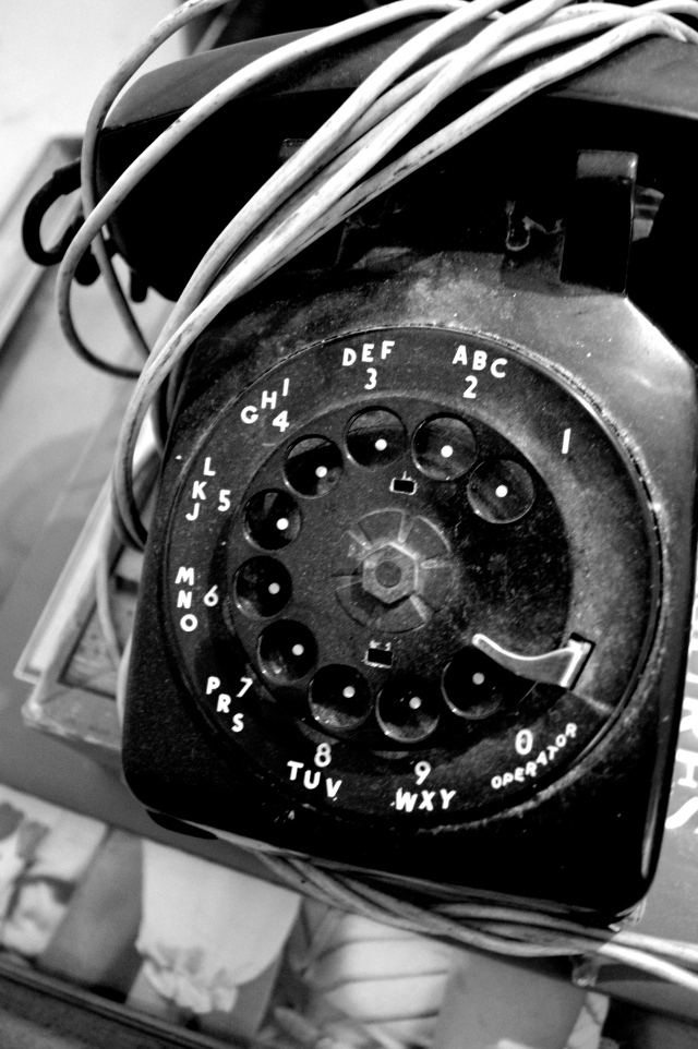 a rotary phone for 396-6137 (my apologies to whomever actually has this number now)