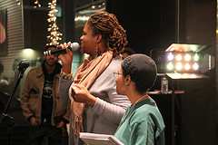 Jori Cotton and Vonceil at Elementz Urban Art Center for Open Mic night