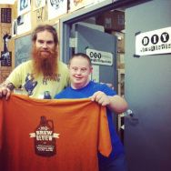 brew review tshirts from DIY Printing (Brandon & Michael above)