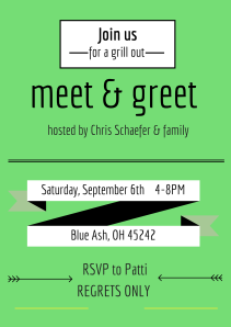 invite from the meet & greet