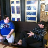 Robert & Mike at Corner Bloc Coffee catching up
