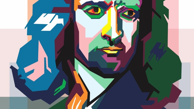Isaac-Newton-pop-art