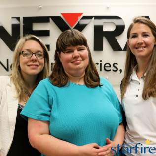 Molly (middle) has been working at Neyra for 2 years.