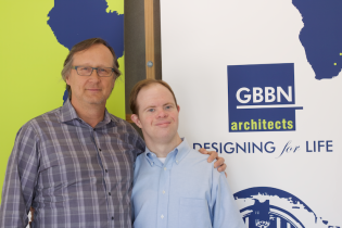 Mike (pictured right) has worked at GBBN Architects for the past 5 years, and a coach for Cincy Swish basketball for 6.